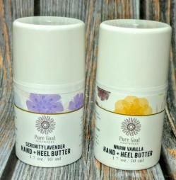 Mini Hand + Heel Butter in Serenity Lavender and Warm Vanilla